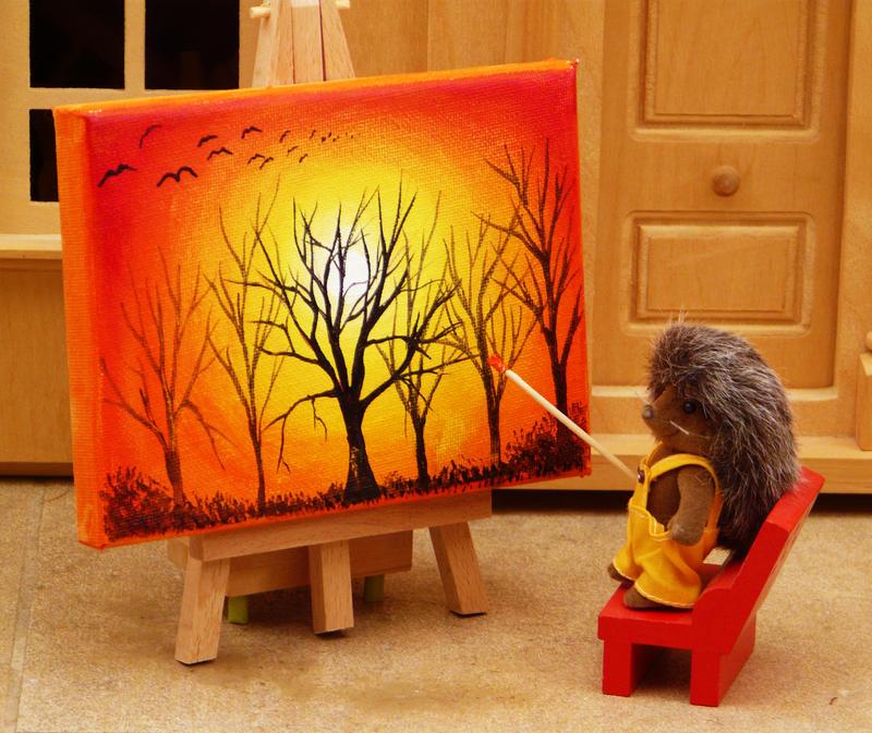 Hedgehog Sunset by AnnMarieBone