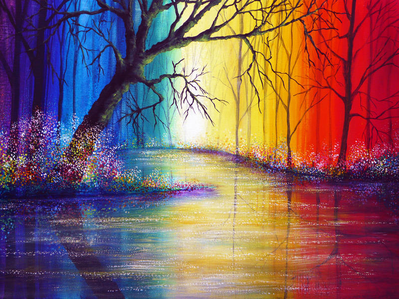 Rainbow River by AnnMarieBone