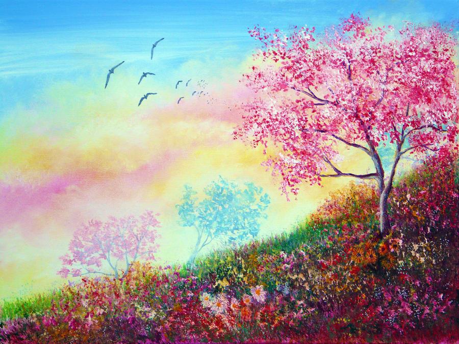 Blossom Skies by AnnMarieBone
