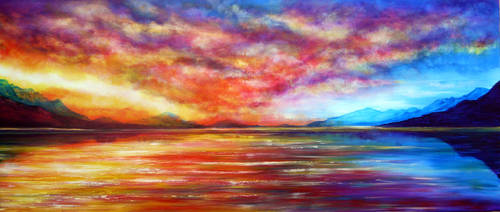 PAINTING: Just Beyond the Sunset by AnnMarieBone