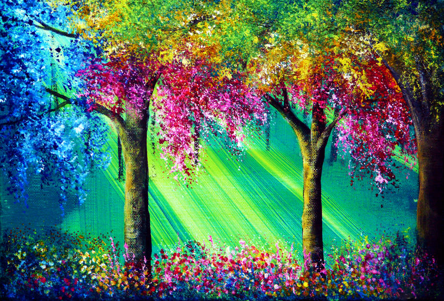 Paint Rainbow Girl Wallpapers: Vivacious By AnnMarieBone On DeviantArt