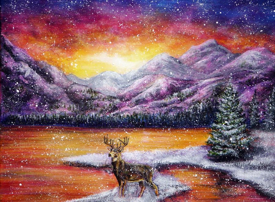 Sunset Snow by AnnMarieBone
