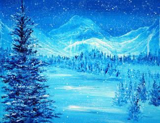 Blue Winter by AnnMarieBone