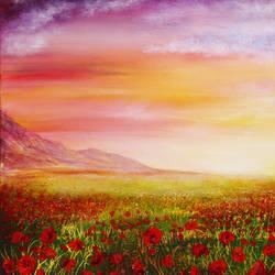 Poppy Meadow by AnnMarieBone