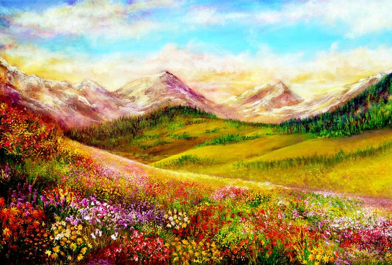 Alpine Spring by AnnMarieBone