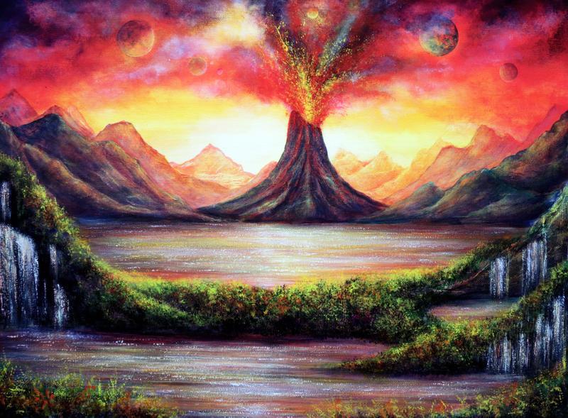 Volcano by AnnMarieBone