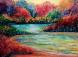 Twilight Beach by AnnMarieBone