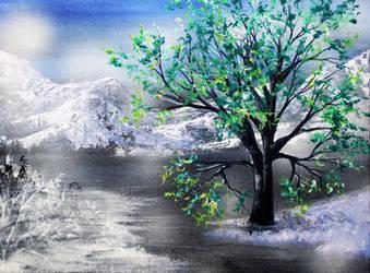 Winter Green by AnnMarieBone