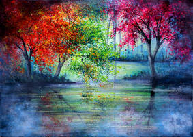 Misty Waters by AnnMarieBone