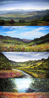 Derbyshire Painting Collection by AnnMarieBone
