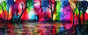 The Rainbow Swing by AnnMarieBone