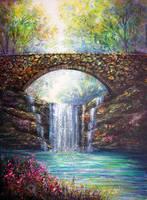 Spring Falls by AnnMarieBone