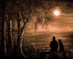 Moon Watching by AnnMarieBone
