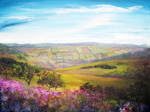 Painting: Fields of Derbyshire