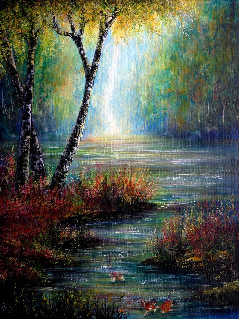 Koi Waters by AnnMarieBone