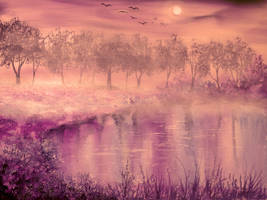 Misty Evening by AnnMarieBone