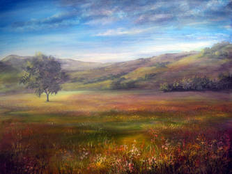 PAINTING: Derbyshire Morning by AnnMarieBone