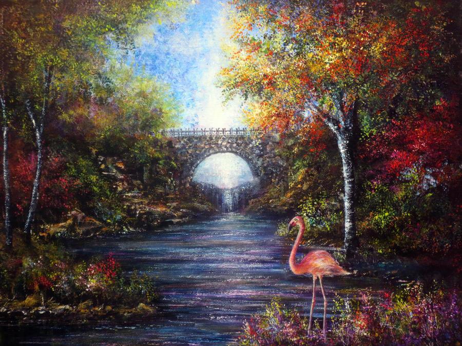 Pretty Flamingo by AnnMarieBone