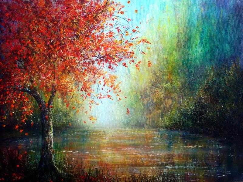 The Autumn Tree by AnnMarieBone