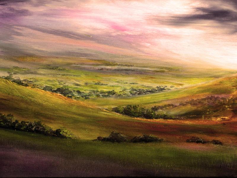 Painting: Derbyshire Light by AnnMarieBone