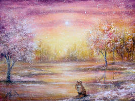 Winter Fox by AnnMarieBone