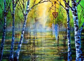 Valentine Dreamcatcher by AnnMarieBone