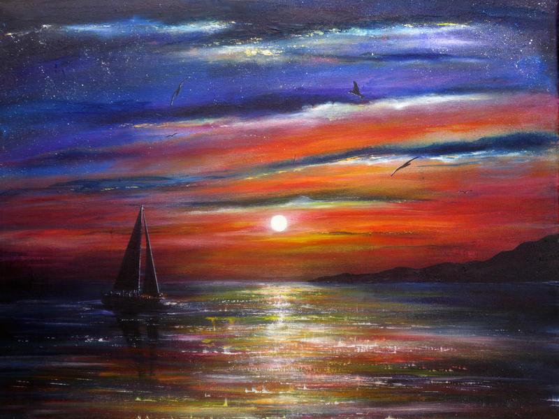 Sunset Journey by AnnMarieBone