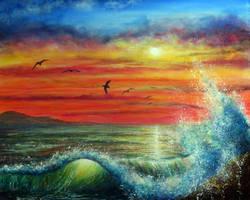 Sunset Wave by AnnMarieBone