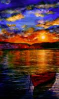 Mediterranean Sunset by AnnMarieBone