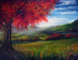 Autumn View by AnnMarieBone