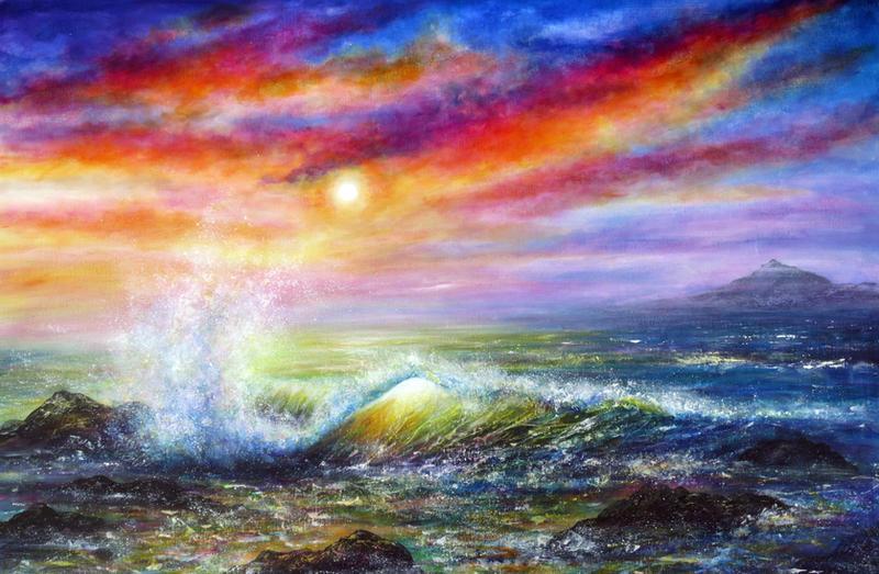 Sunset Sea by AnnMarieBone
