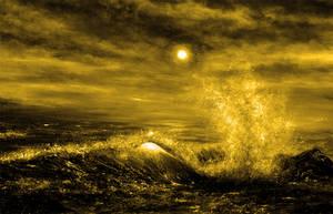 Golden Wave by AnnMarieBone