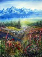 Mountain Stream by AnnMarieBone