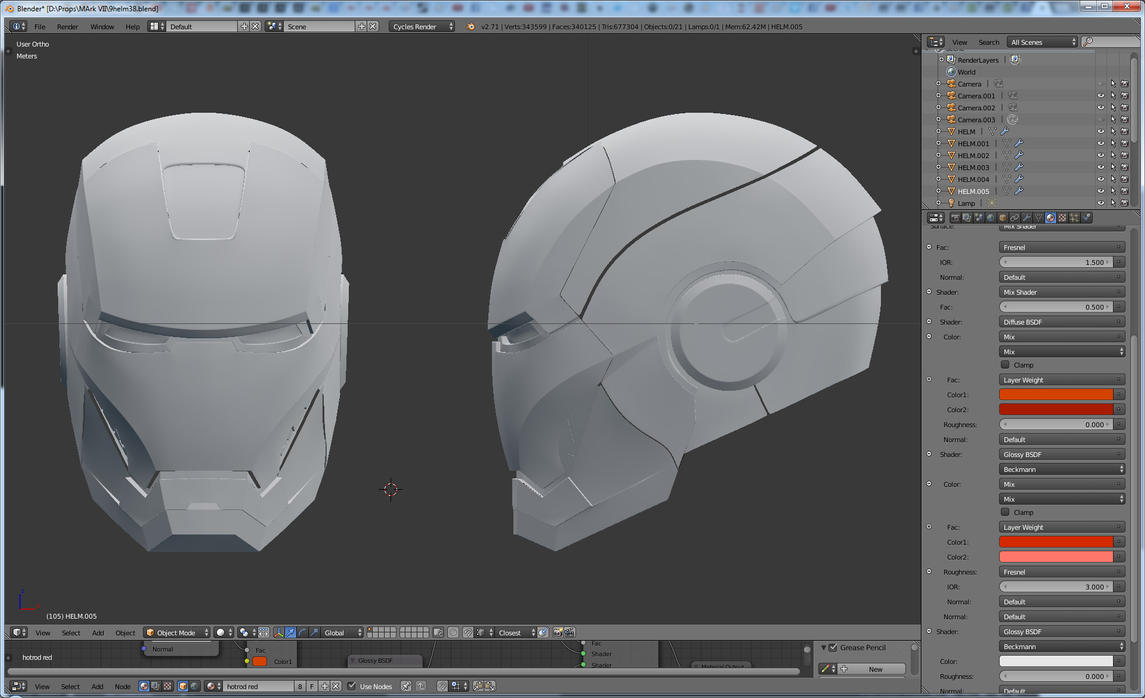 Iron Man 3D helmet WIP by gaiuscassius