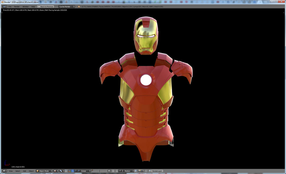 Iron Man 3D Mark VII costume WIP by gaiuscassius
