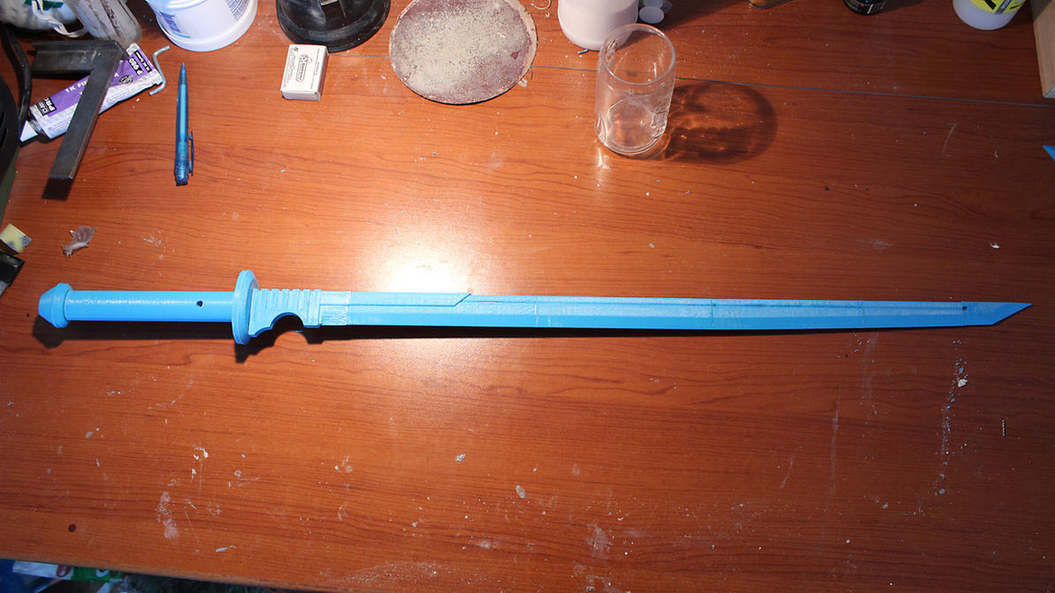 Deathstroke cosplay - 3D printed sword by gaiuscassius