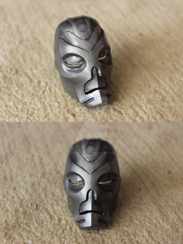 Miniature Dragon Priest mask from Skyrim by gaiuscassius