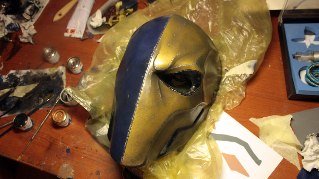 Deathstroke cosplay - Finished mask by gaiuscassius