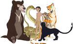 Main Cast of The Jungle Book