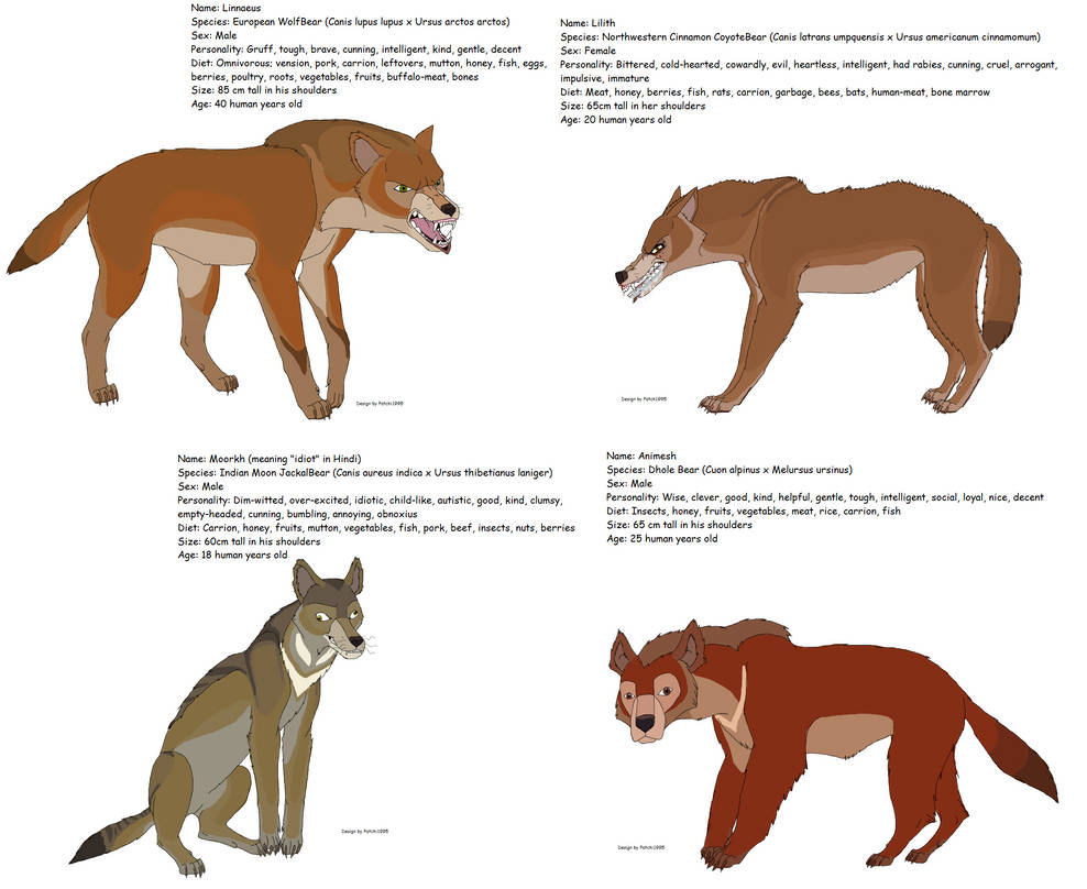 Gift for Bear-hybrid: WolfBears by Patchi1995 on DeviantArt