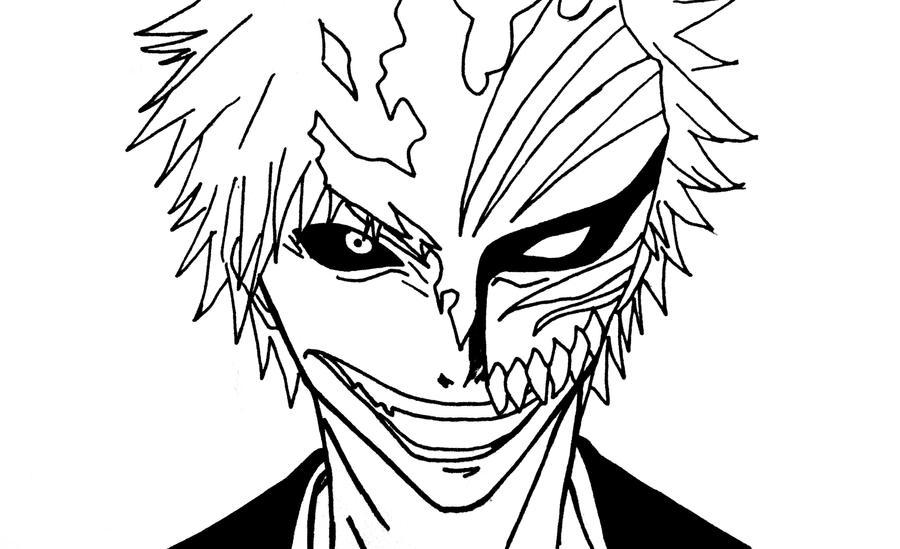 Bleach Ichigo Coloring Pages Sketch Coloring Page