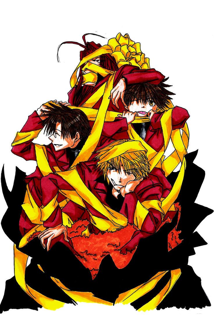 Saiyuki Group color by CursedSnail