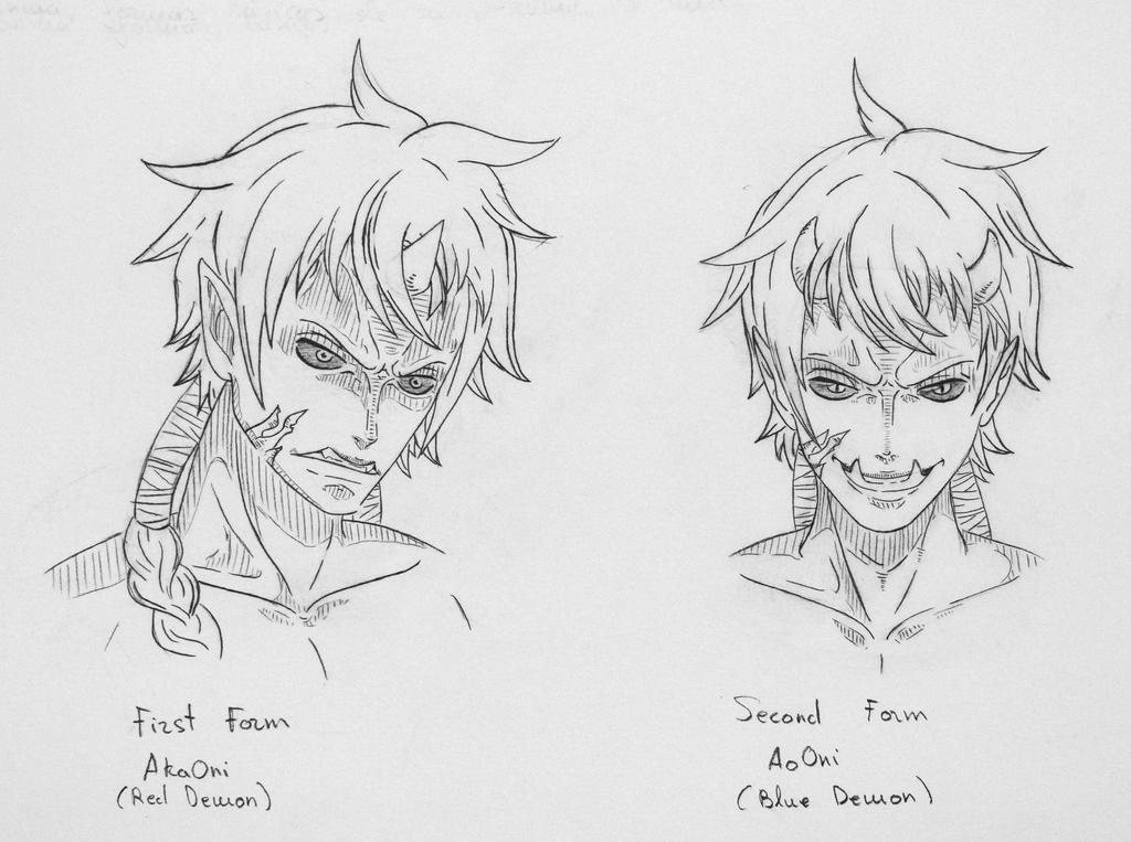 ::SKETCH:: Oni Oni no mi Enma by CursedSnail