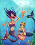 Pepper and Wanda as Mermaids