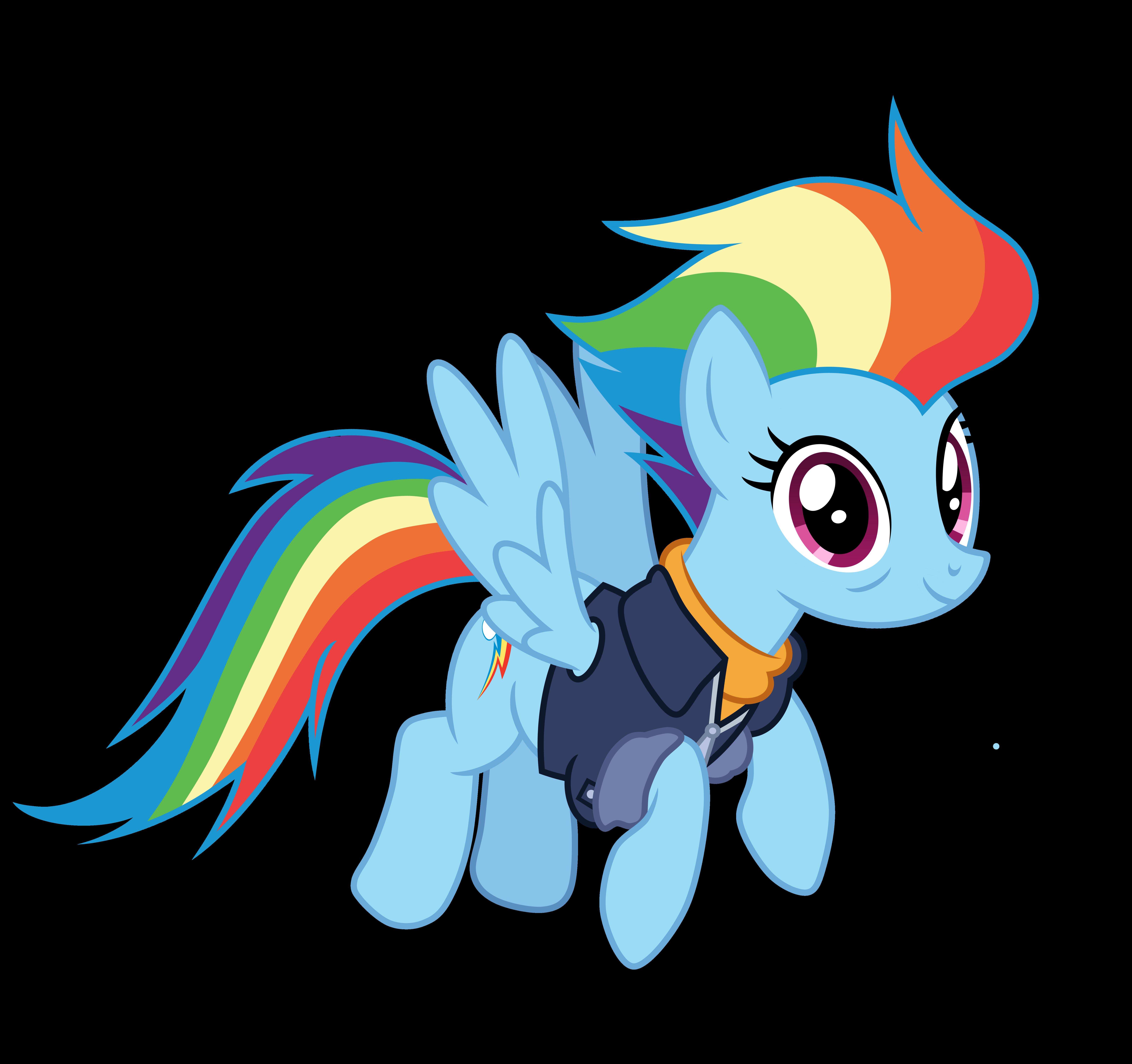 Mlp Fim Rainbow Dash (happy) Vector by luckreza8 on DeviantArt