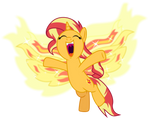 Shimmering Phoenix by EmeraldBlast63