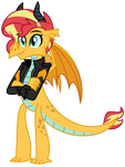 Dragon Sunset Shimmer by EmeraldBlast63