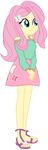 University Fluttershy by EmeraldBlast63