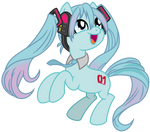 Hatsune Miku (Pony Form)
