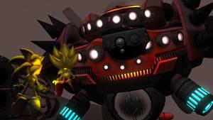 Super Sonic vs Egg Dragoon